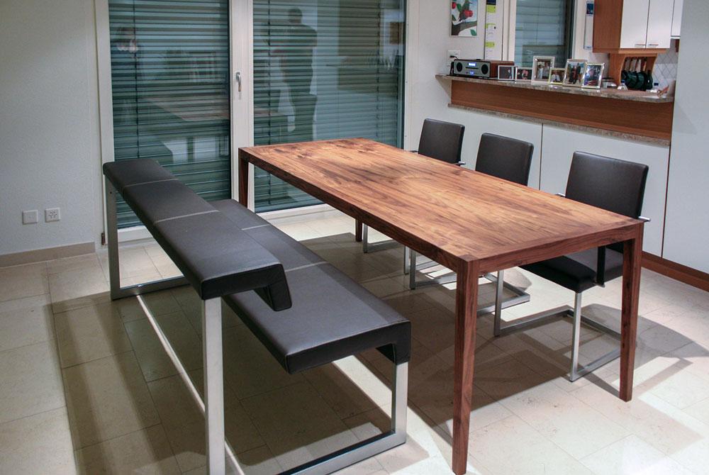 holzbank f rs esszimmer jonny b m belwerkstatt. Black Bedroom Furniture Sets. Home Design Ideas